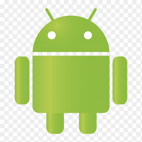 Android icon on transparent  background PNG
