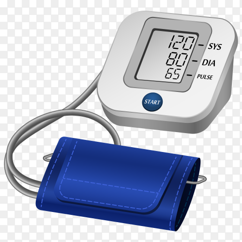 Automatic blood pressure monitor Clipart PNG