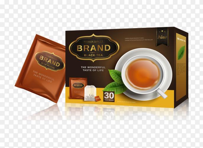 Backet of tea on transparent PNG