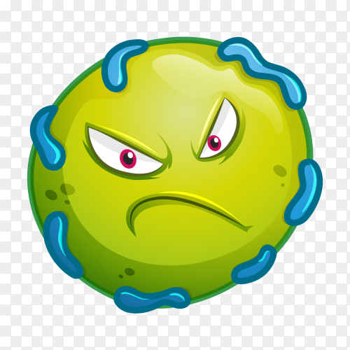 Bacteria with facial expressions Premium vector PNG
