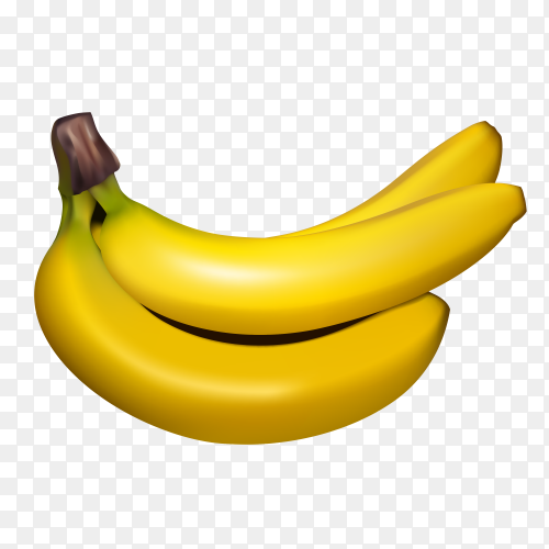 Banana bunch isolated Premium vector PNG