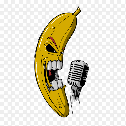 Banana scream on transparent background PNG
