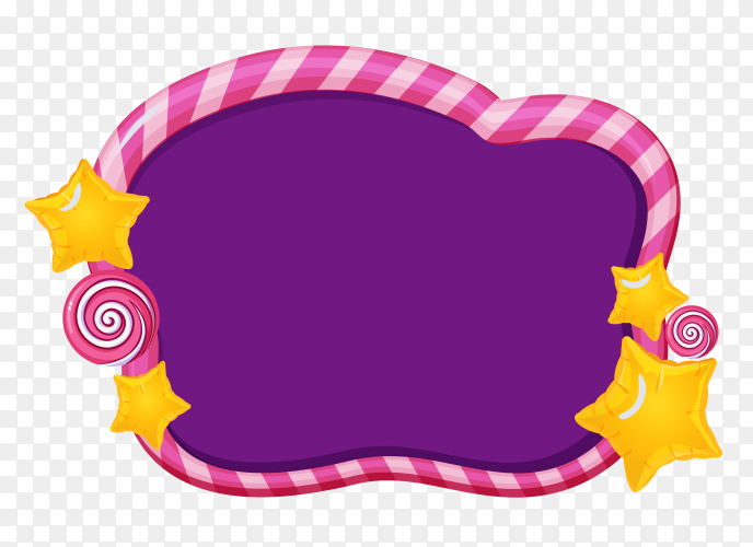 Beautiful Purple Banner on transparent background PNG