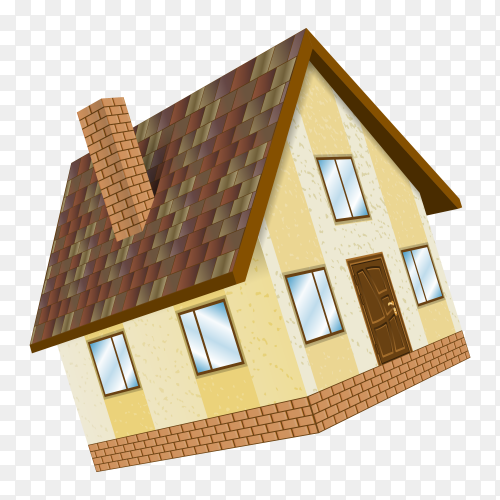 Beautiful house on transparent background PNG