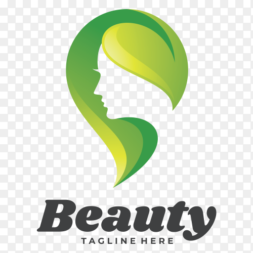 Beauty logo icon on transparent background PNG