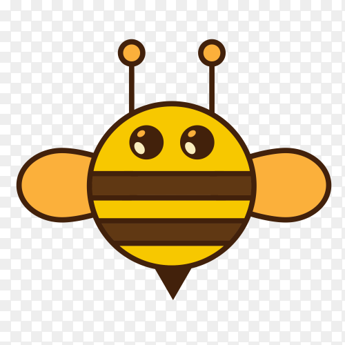 Bee isolated Clipart PNG