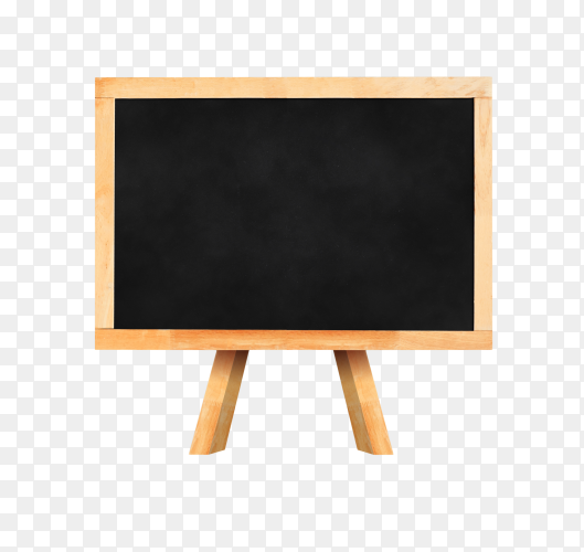 Blackboard with easel on transparent background PNG