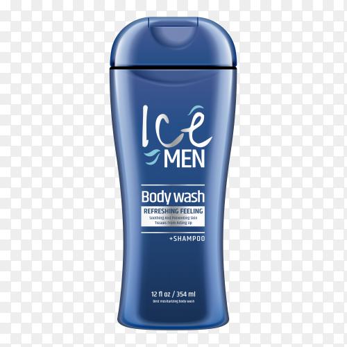 Blue Body wash for men on transparent PNG