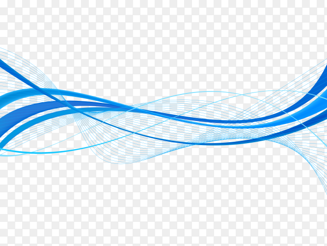 Blue Colorful Waves  abstract background vector PNG