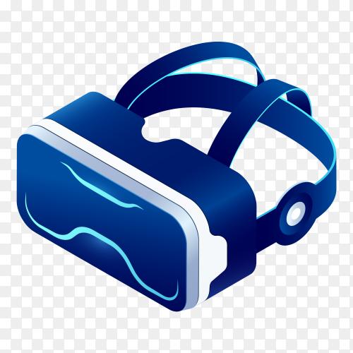 Blue VR galsses on transparent background PNG