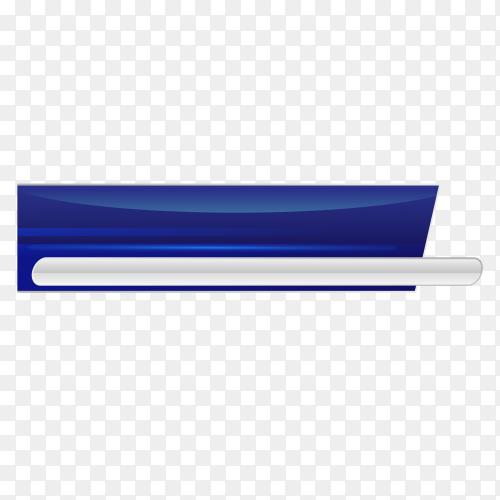 Blue banner Premium vector PNG