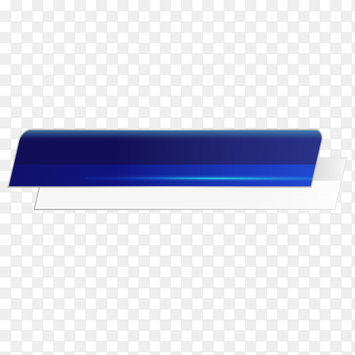 Blue banner on transparent background PNG