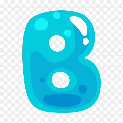 Blue color shaped B letter vector PNG