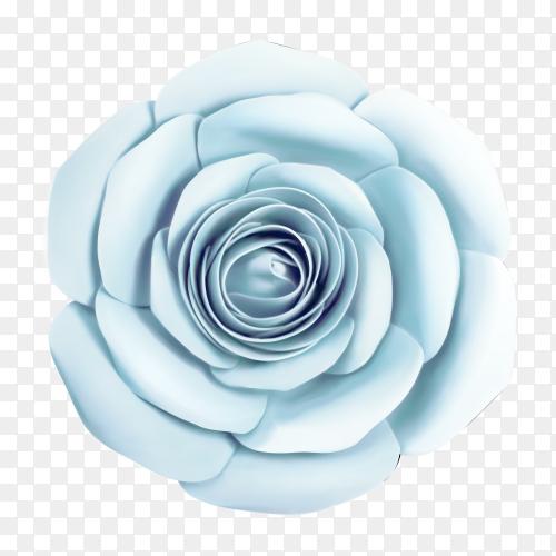 Blue flower on transparent PNG