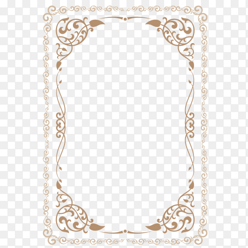 Brown frame clipart PNG
