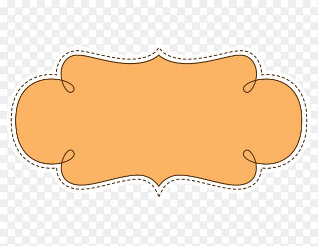 Brown patterns on transparent PNG