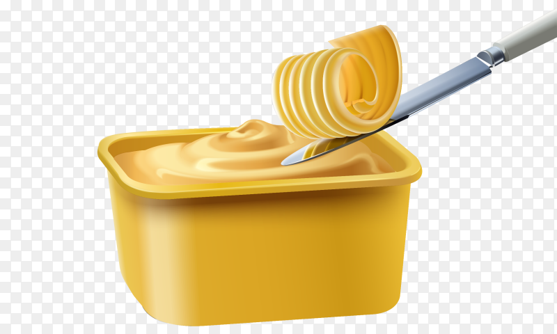Butter and knife on box Clipart PNG