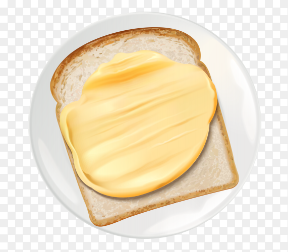 Butter and toasted bread slices Clipart PNG
