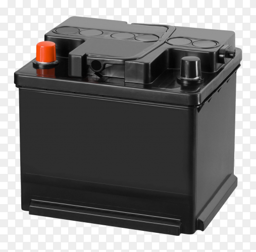 Car battery on transparent background PNG