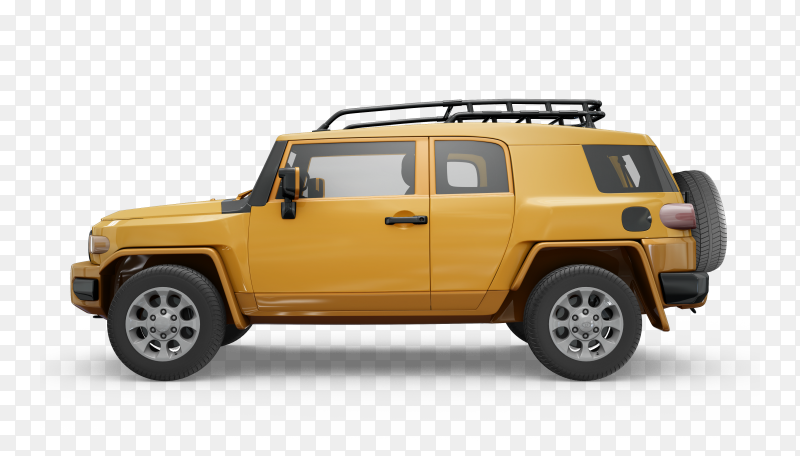 Car jeep Realistic on transparent background png