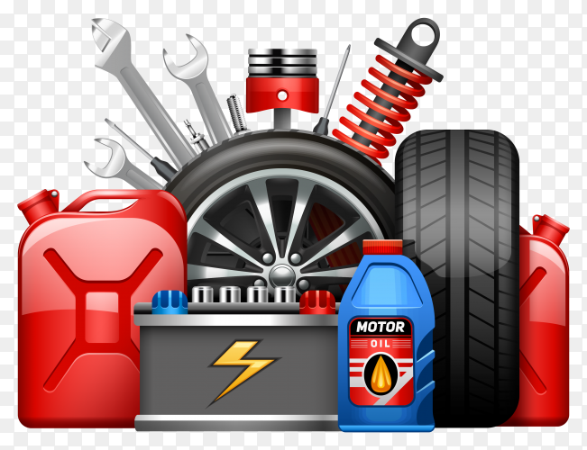 Car service center advertisement Premium vector PNG