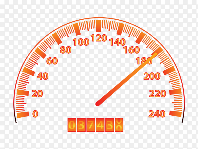 Car speedometer dashboard Premium vector PNG