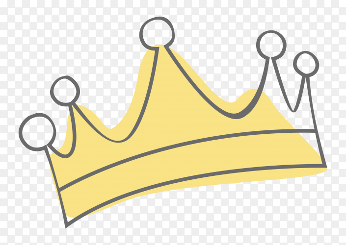 Cartoon Crown Illustration Clipart PNG