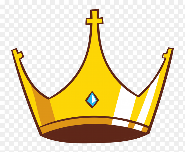 Cartoon illustration of crown icon Clipart PNG