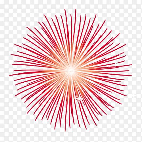 Celebration fireworks on transparent PNG