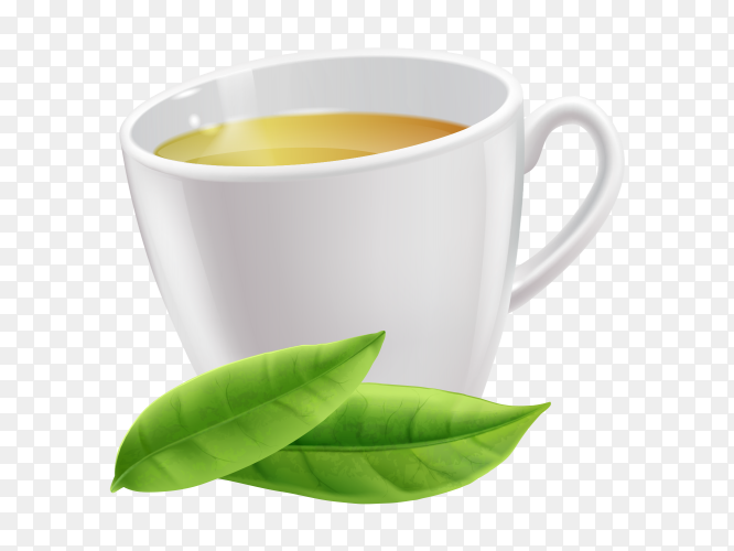 Ceylon tea in cup clipart PNG