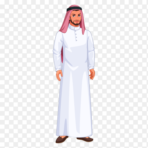 Character arabic man clipart PNG