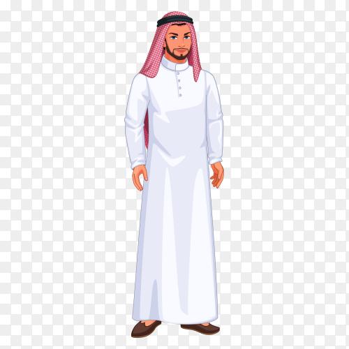 Character arabic man clipart PNG