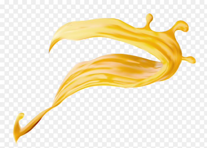 Cheese splash on transparent PNG