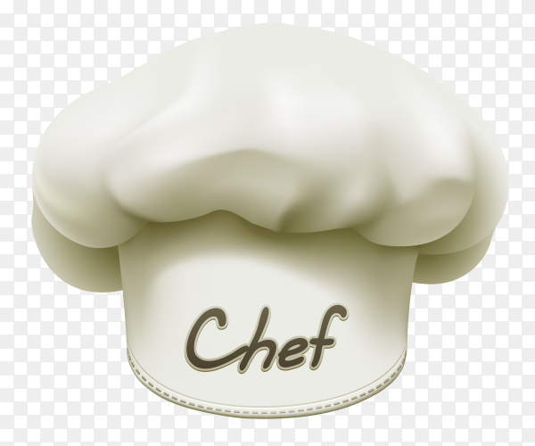 Chef Hat Icon on transparent background PNG