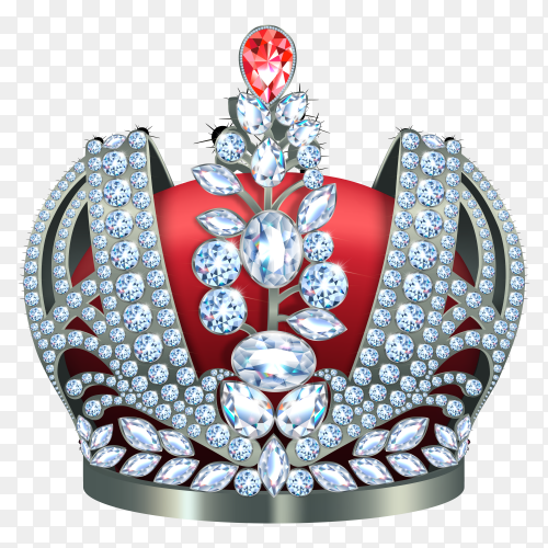 Classic king's crown isolated  vector PNG