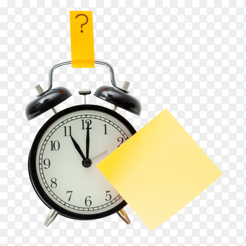 Clock office table on transparent background PNG