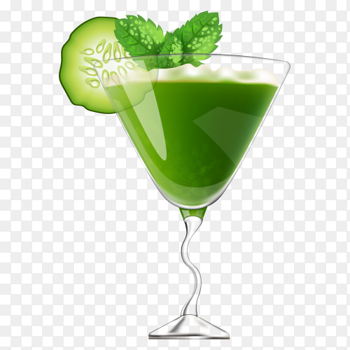 Cocktail with mint and ice juice Clipart PNG