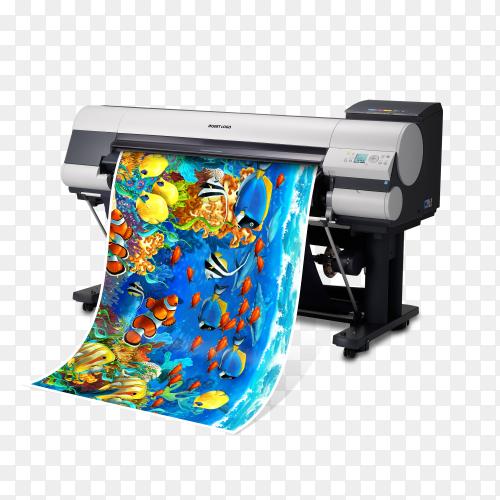 Color for 3D printer on transparent background PNG