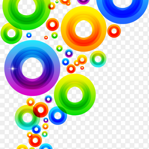Colorful Circles on transparent background PNG