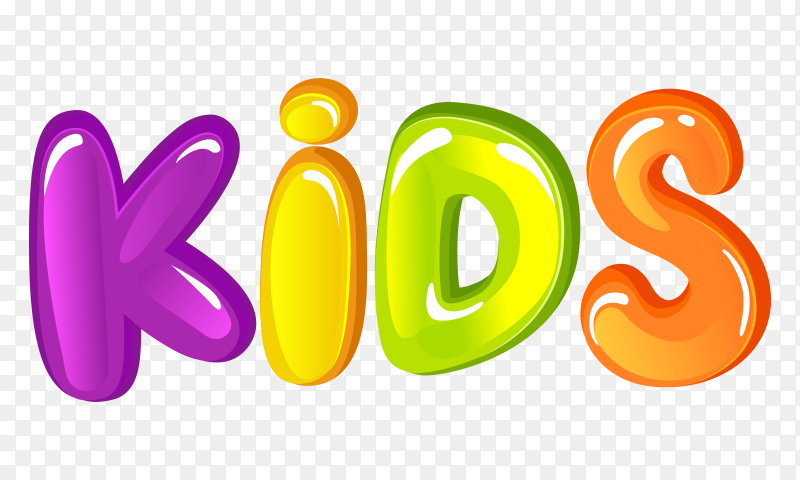 Colorful Kids Letter Word vector PNG