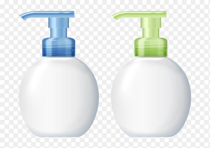 Colorful Plastic bottle vector PNG