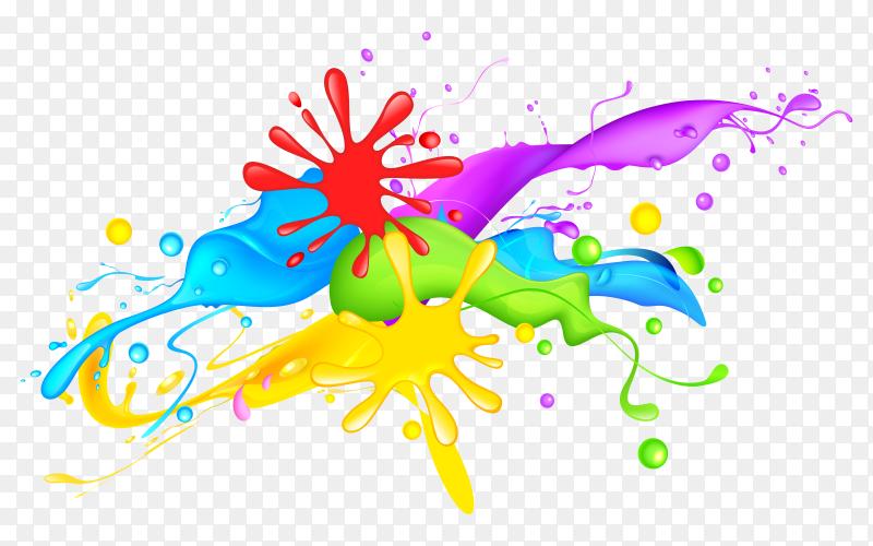 Colorful Splash color Vector PNG