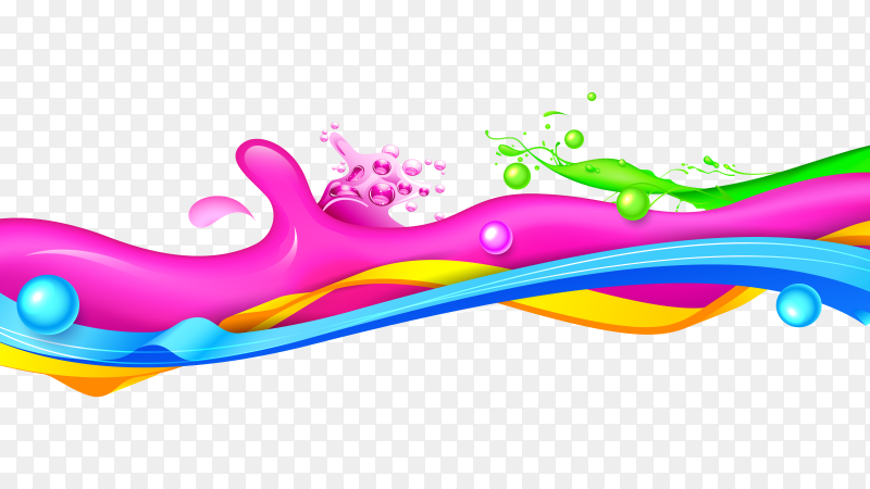 Colorful Splash vector PNG