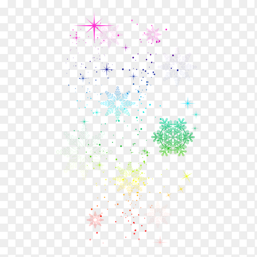 Colorful Stars on transparent background PNG