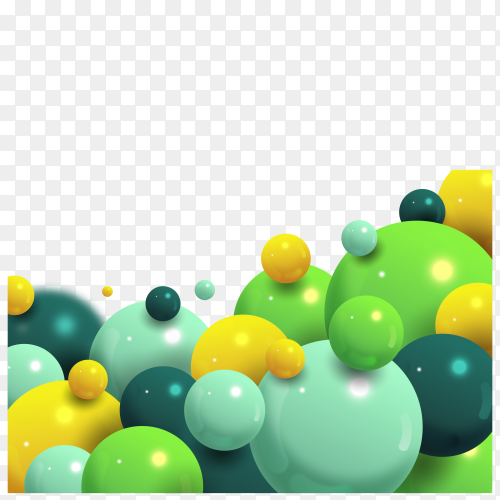 Colorful balls on transparent background PNG