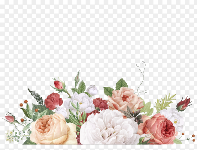 Colorful beautiful flower vector PNG