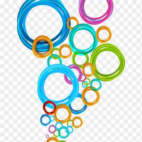 Colorful circle on transparent background PNG