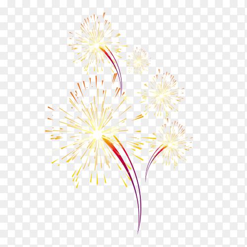 Colorful fireworks celebration Premium vector PNG