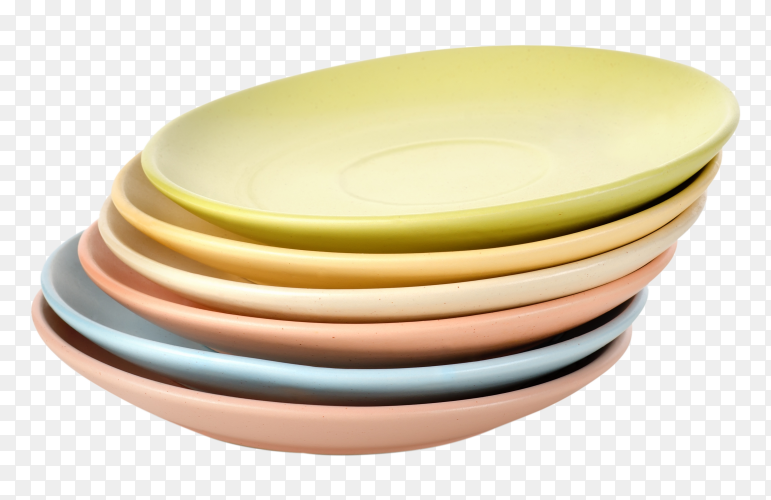 Colorful plate on transparent background PNG