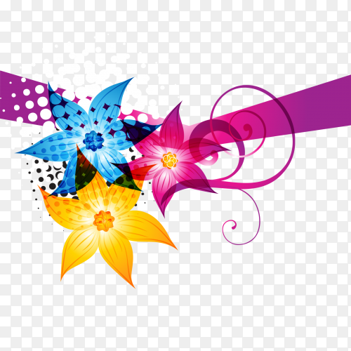 Colorful ribbon premuim vector PNG